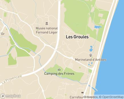 Localisation EHPAD Le Château de la Brague - 06600 - Antibes