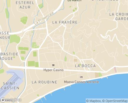 Localisation EHPAD Résidence du Midi - 06150 - Cannes-la-Bocca