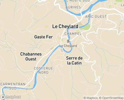 Localisation SSR de l'Hôpital Local - 07160 - Le Cheylard