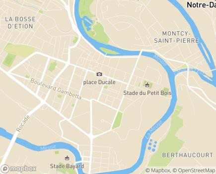 Localisation Direction des Solidarités - 08000 - Charleville-Mézières