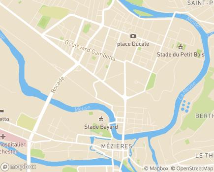 Localisation L'Assurance Maladie, Risques Professionnels Nord-Est - 08000 - Charleville-Mézières
