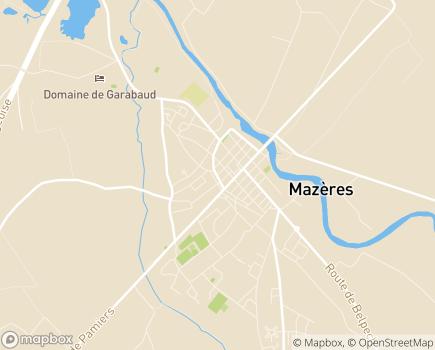 Localisation EHPAD Le Clos de Raunier - 09270 - Mazères