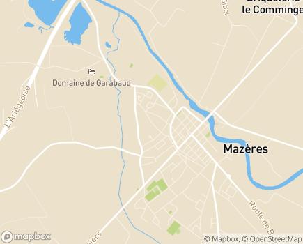 Localisation Korian Gaston de Foix - 09270 - Mazères