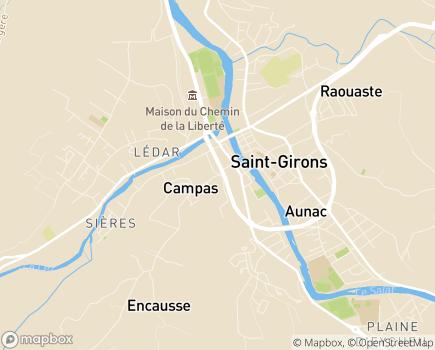Localisation Association ADES Europe - Espace Accueil - 09200 - Saint-Girons