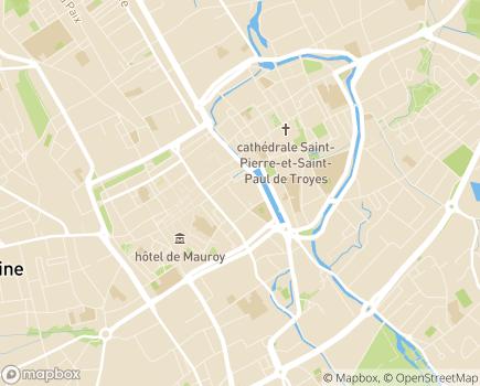 Localisation Conseil Départemental de l'Aube - 10026 - Troyes
