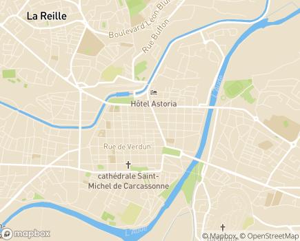 Localisation ARS Agence Régionale de Santé - Délégation Départementale de l'Aude - 11021 - Carcassonne