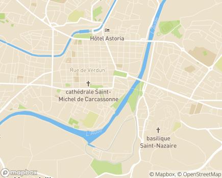 Localisation Conseil Départemental de l'Ordre des Médecins de l'Aude - 11000 - Carcassonne