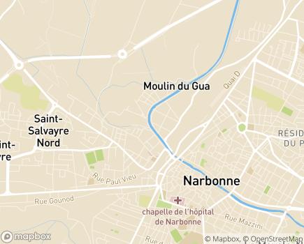 Localisation Aquarelia Résidence Les Floriales - 11100 - Narbonne
