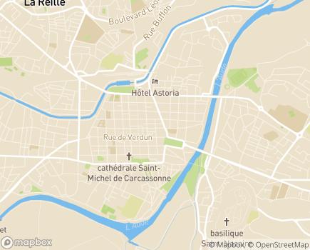 Localisation Syndicat des Médecins de l'Aude, CSMF 11 - 11000 - Carcassonne