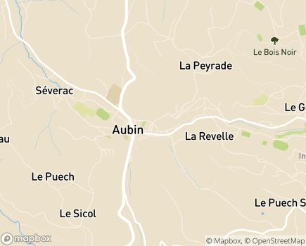 Localisation Maison de Retraite - 12110 - Aubin