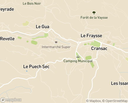 Localisation Institut Médico-Educatif de l'Ouest - 12110 - Cransac