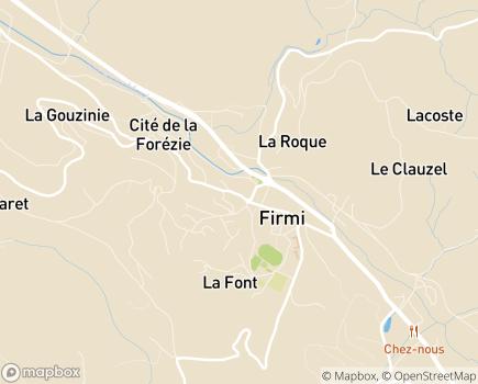 Localisation EHPAD Paul Mouysset - 12300 - Firmi