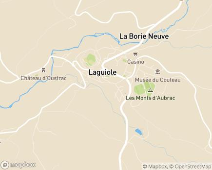 Localisation ANRAS Résidence Sainte-Thérèse - EHPAD - 12210 - Laguiole