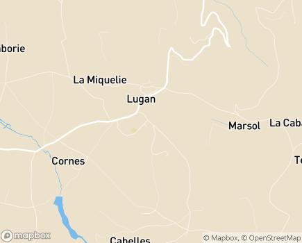Localisation EHPAD de Lugan Résidence La Montanie - 12220 - Lugan