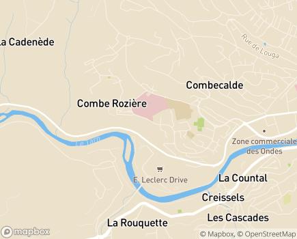 Localisation Institut Médico-Educatif Puits de Calès - 12100 - Millau