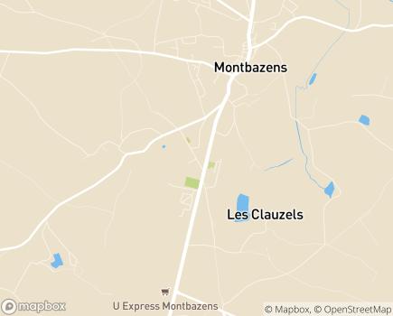 Localisation EHPAD Parc de Jaunac - 12220 - Montbazens