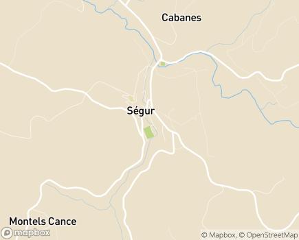 Localisation Maison d'Enfants à Caractère Social Accueil Millau-Ségur - 12290 - Ségur