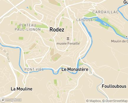 Localisation Centre Départemental pour Déficients Sensoriels - 12000 - Rodez