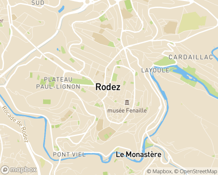 Localisation HAD Départementale USDMA MFA - 12023 - Rodez