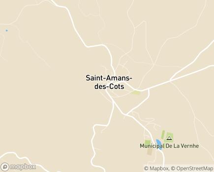 Localisation EHPAD Saint-Jean - 12460 - Saint-Amans-des-Cots