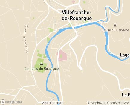 Localisation EHPAD Le Bosquet A la Chartreuse - 12200 - Villefranche-de-Rouergue
