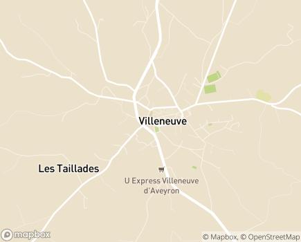 Localisation Résidence Marie Vernières EHPAD - 12260 - Villeneuve