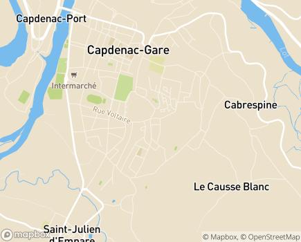 Localisation SSIAD Résidence du Pays Capdenaçois - 12700 - Capdenac-Gare