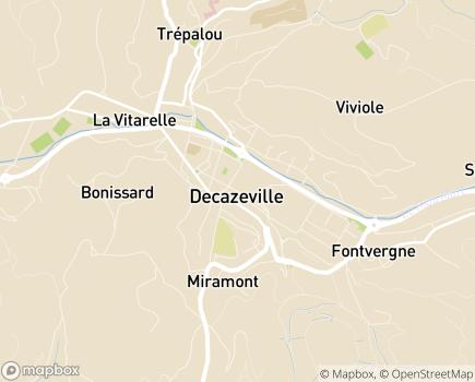 Localisation SSIAD Service de Soins Infirmiers à Domicile (Groupe Filieris) - 12300 - Decazeville