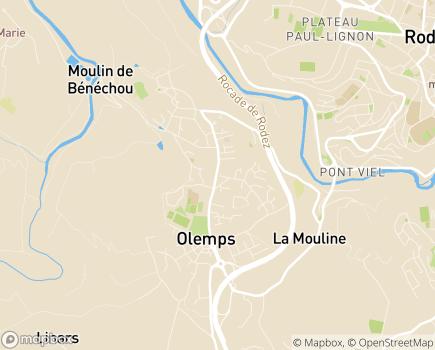 Localisation EHPAD Les Peyrières - 12510 - Olemps