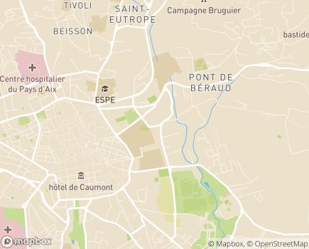 Localisation Polyclinique Parc Rambot - 13626 - Aix-en-Provence