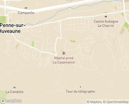 Localisation Hôpital Privé La Casamance - 13400 - Aubagne