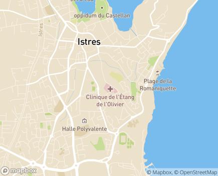 Localisation Clinique de l'Etang de l'Olivier (Almaviva Santé) - 13800 - Istres