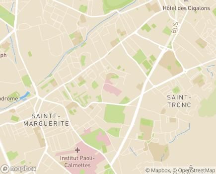 Localisation Hôpital Privé Résidence du Parc (Ramsay - Générale de Santé) - 13387 - Marseille 10