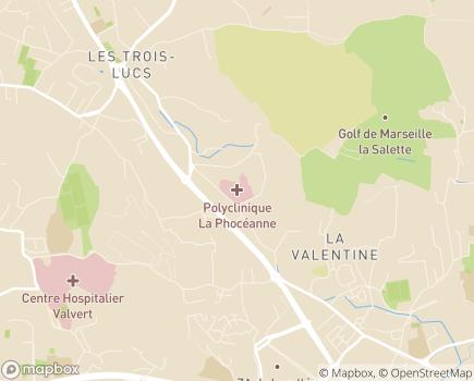 Localisation Clinique la Phocéanne - 13012 - Marseille 12