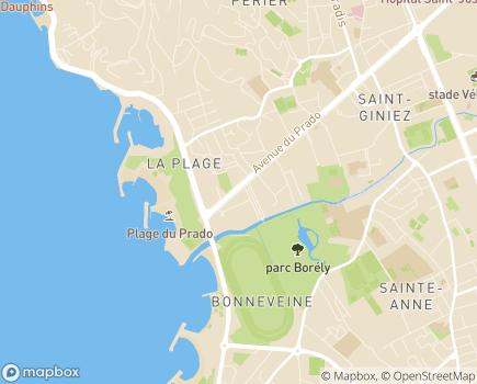 Localisation Conseil Départemental des Bouches-du-Rhône de l'Ordre des Médecins - 13295 - Marseille 08