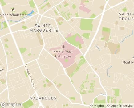Localisation Hôpital Sainte-Marguerite - 13274 - Marseille 09