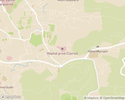 Localisation Hôpital Privé Clairval (Ramsay - Générale de Santé) - 13009 - Marseille 09