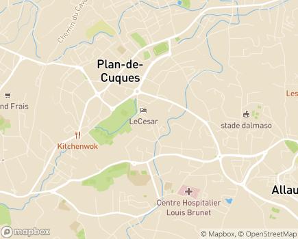 Localisation EHPAD Résidence Retraite Les Blacassins - 13380 - Plan-de-Cuques