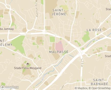 Localisation HIA Laveran Hôpital d'Instruction des Armées - 13013 - Marseille 13