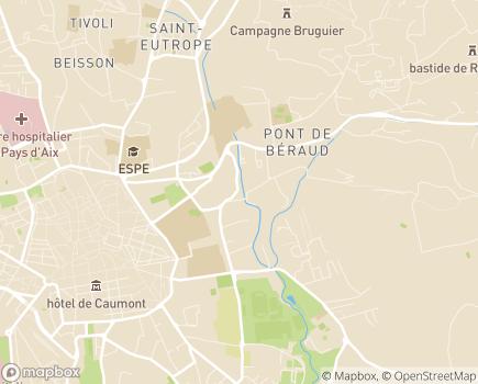 Localisation Centre de Gérontologie Saint-Thomas de Villeneuve - 13626 - Aix-en-Provence