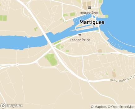 Localisation Service de Soins Infirmiers à Domicile Oxance - 13500 - Martigues