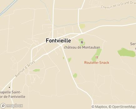 Localisation EHPAD Henri Bellon et Résidence Autonomie Alphonse Daudet - 13990 - Fontvieille