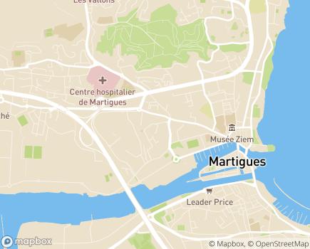Localisation Collège Coopératif Provence Alpes Méditerranée - 13500 - Martigues