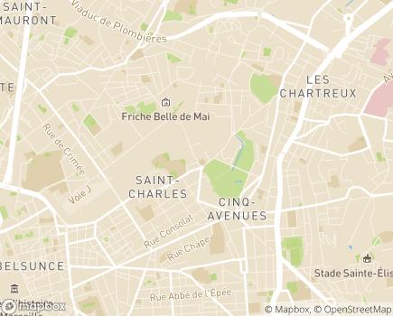 Localisation EHPAD Résidence Longchamp - 13004 - Marseille 04