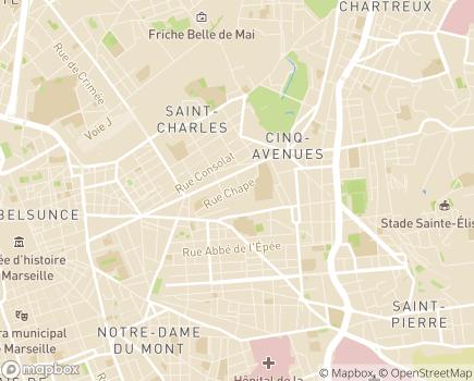 Localisation Clinique Sainte Elisabeth - 13004 - Marseille 04