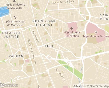 Localisation Résidence avec Services Les Girandières - 13006 - Marseille 06