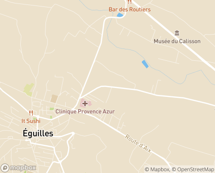 Localisation Clinique Provence Azur - 13510 - Éguilles