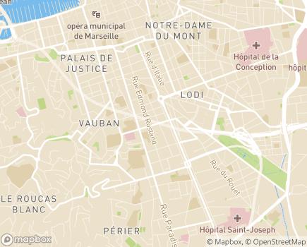 Localisation SSIAD L'Oasis Marseille - 13006 - Marseille 06