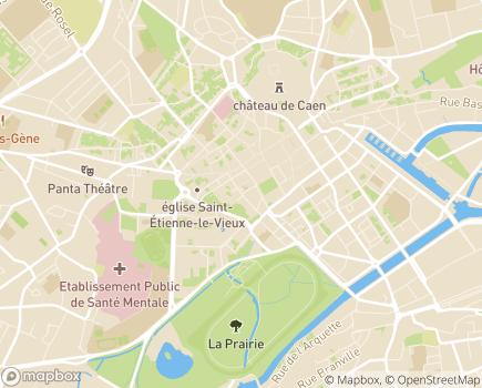 Localisation Conseil Départemental du Calvados - 14035 - Caen
