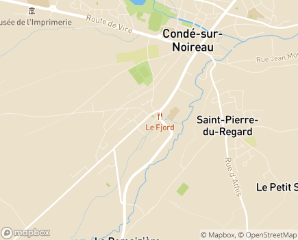 Localisation EHPAD de Condé-sur-Noireau - 14110 - Condé-sur-Noireau